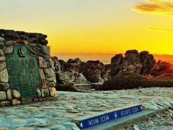 Cape Agulhas aan Kaapstad, het zuidelijkste punt van Afrika