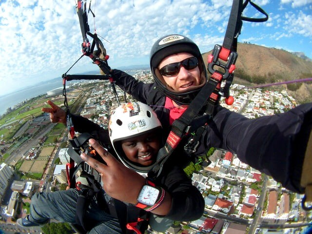Tandem sprong Paragliding in Kaapstad