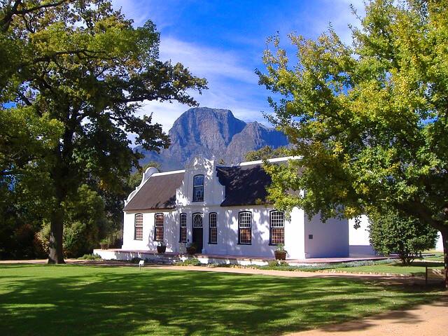 Stellenbosch Wijngaard Zuid-Afrika